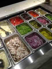 Subway toppings